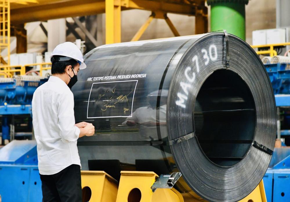 Jokowi : Industri Baja Pilar Penting Pertumbuhan Ekonomi