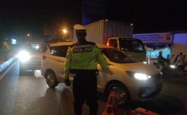 1.500 Kendaraan Gagal Masuk Kota Palembang