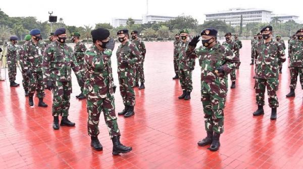 91 Perwira Tinggi TNI Naik Pangkat