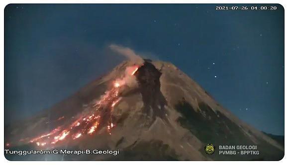 BPBD Magelang Pantau Kebakaran Vegetasi di Lereng Gunung Merapi