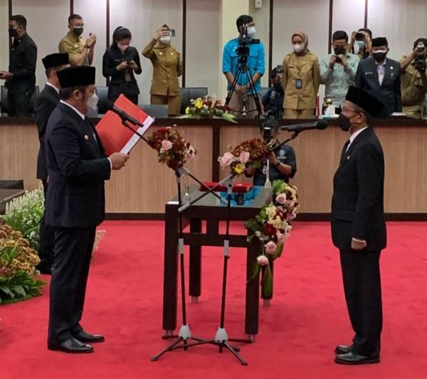 Gubernur Lantik Supriono Sebagai Pj Sekda Sumsel