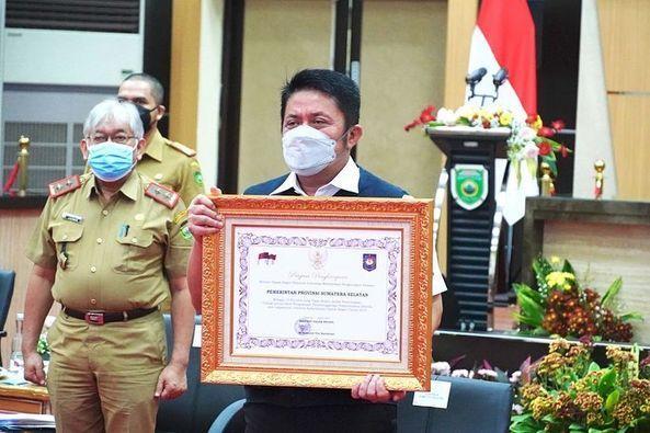Gubernur Sumsel Raih Penghargaan dari Mendagri