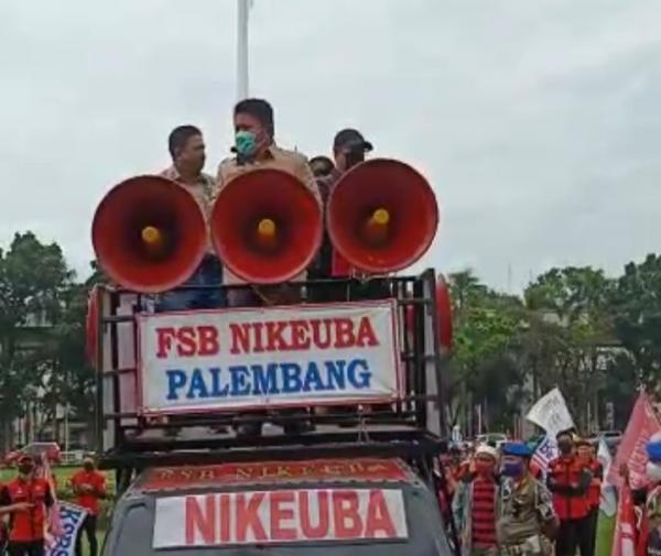 Herman Deru Siap Teruskan Tuntutan Buruh Sumsel Kepada Pemerintah Pusat