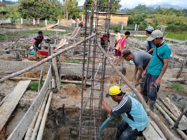 Pembangunan Masjid Al-Mubharak Desa Kota Agung Semende Dimulai