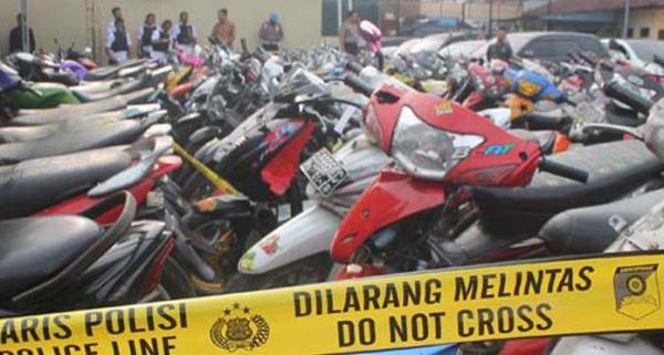 Puluhan Unit Motor Bodong dari Jawa Diamankan Polda Sumsel