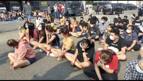 Ratusan Pengunjung Patok Besi Lubuklinggau Diamankan Petugas Gabungan
