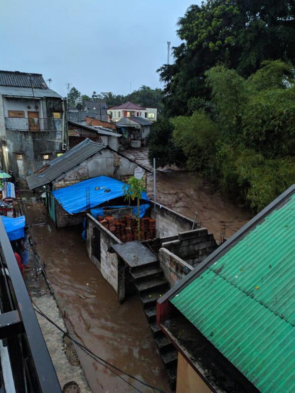 Update, Dua belas Rumah Hanyut Saat Banjir Bandang di Kecamatan Cicurug